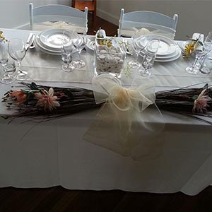 Wilmax Crockery with Crystal glassware and Bogart Cutlery