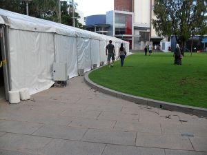Corona virus testing tents