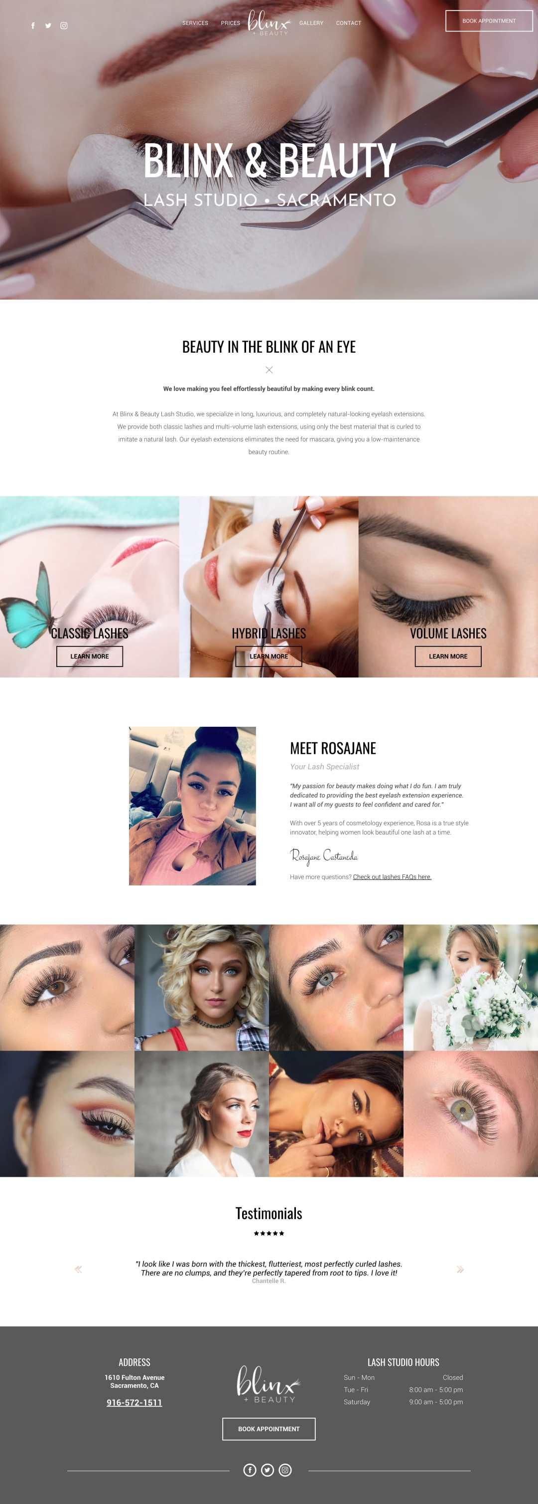 blinxandbeauty eyelash extensions website min - Eyelash Extensions Branding & Website