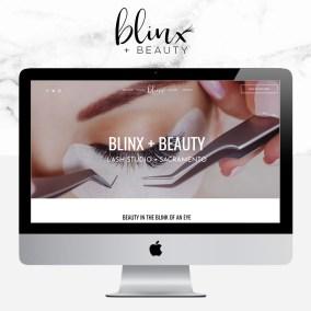 blinx and beauty sacramento eyelash extensions web design