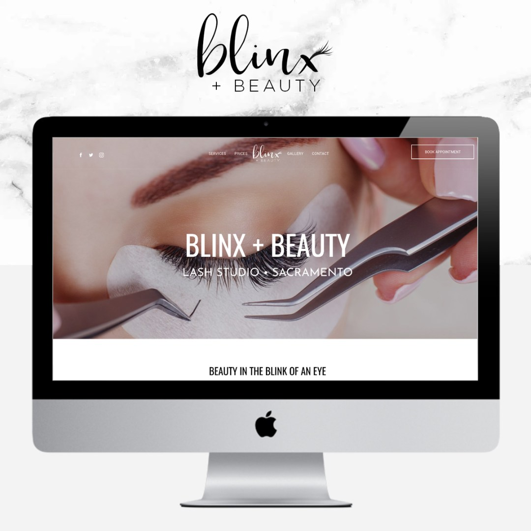 blinxandbeautyIG - Eyelash Extensions Branding & Website
