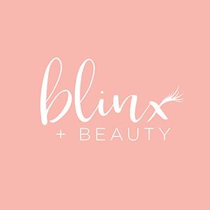 blinx and beauty sacramento lashes logo design