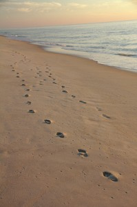 We all leave footprints in the sand of time.