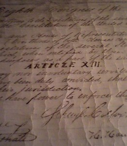 The original 13th Amendment document can be found at the Library of Congress.