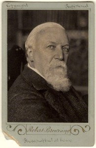 Robert Browning, looking thoughtful in 1889.