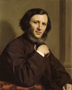 Here's Robert Browning, as he was painted in 1858, from the National Portrait Gallery in London.
