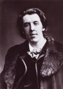Oscar Wilde, as photographed by Elliott & Fry in 1881, from the National Portrait Gallery in London.