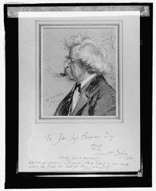 Mark Twain; from a glass negative