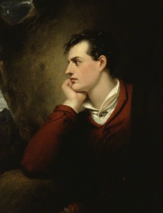 "Everyone wanted to meet Lord Byron after the publication of his poem ""Childe Harold's Pilgrimage,"" which made him a celebrity."