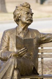 Mark Twain Statue photograph by Flickr.com user Billie Hara January 30, 2008 Creative Commons License