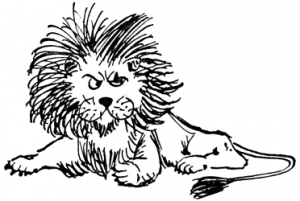 Lions and small boys do not mix, according to Hilaire Belloc!
