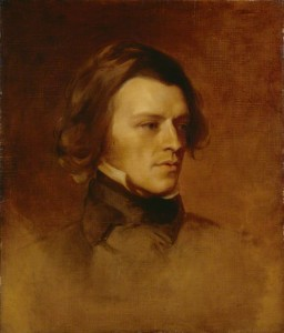 Alfred Lord Tennyson, painted by Samuel Laurence, and  Sir Edward Coley Burne-Jones, circa 1840, from the National Portrait Gallery in London.