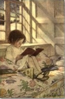 With a cozy reading nook and a beautiful book, children can pleasantly while away many hours.