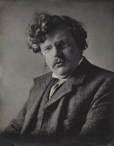 G. K. Chesterton, as photographed by E. H. Mills.
