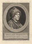 [Franklin wearing his coonskin cap] Benjamin Franklin by Augustin de Saint-Aubin, after  Charles Nicolas Cochin line engraving, 1777 (NPG D2369) Creative Commons License