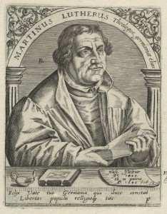 Martin Luther by Robert Boissard, after Lucas Cranach the Elder, line engraving, circa 1597 (NPG D23476) © National Portrait Gallery, London Creative Commons License