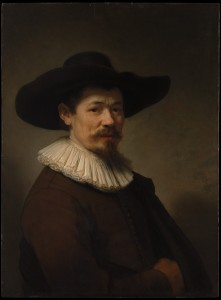 In this painting owned by the Metropolitan Museum of Art, Rembrandt gives us a stunningly lifelike portrait of a man named Herman Doomer.