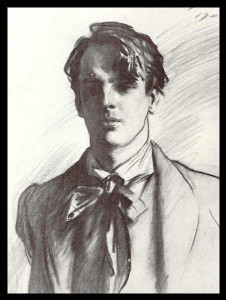 Portrait of William Butler Yeats by John Singer Sargent.