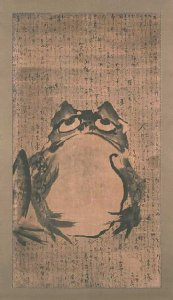 Frog in a Japanese painting, c.1800.