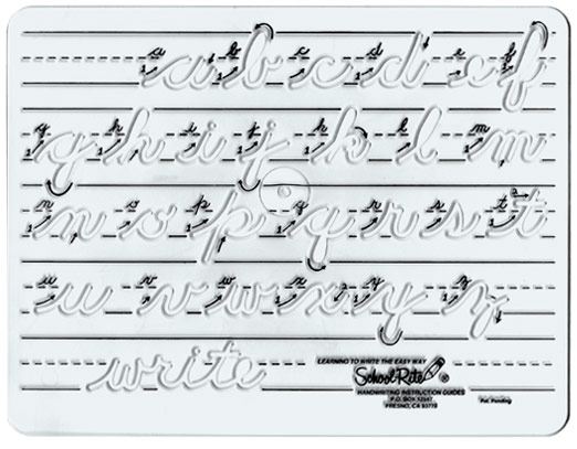 Excellence In Education: Handwriting Template: Cursive