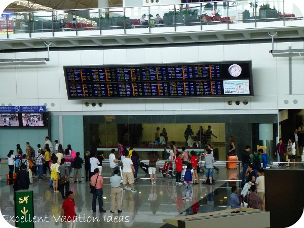 Hong Kong Airport Departures And Arrivals