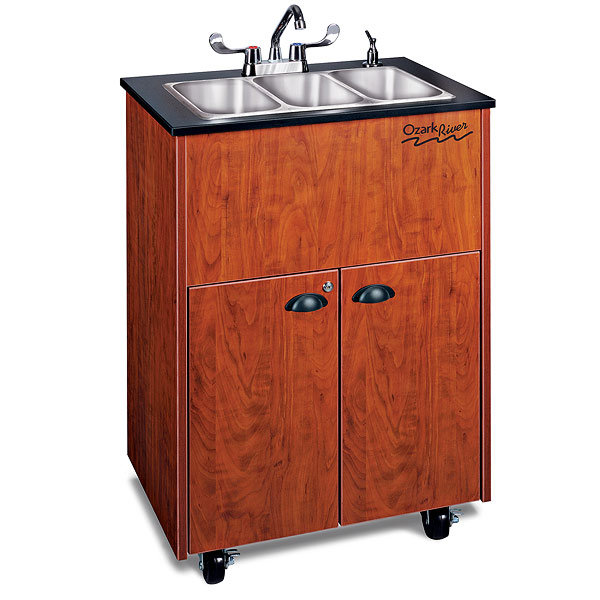 Ozark RiverPortable Hot Water Sink With Triple Stainless