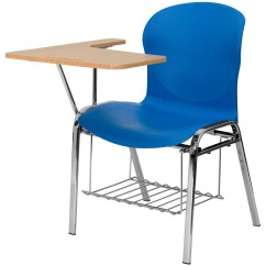 Chair With Arm Table Wheelchair Handles Hercules Series Blue Shell Right Handed