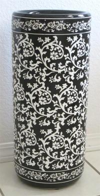 Ceramic Umbrella Stand Black and White US38-18