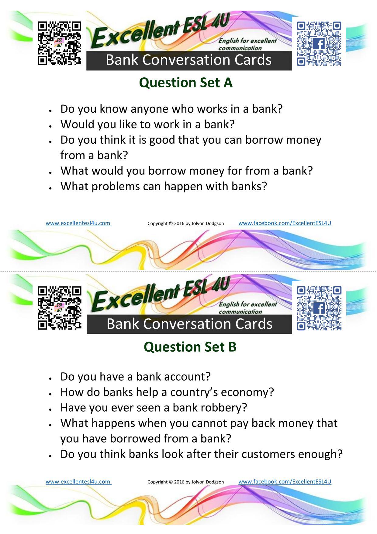 Esl Banking Conversations