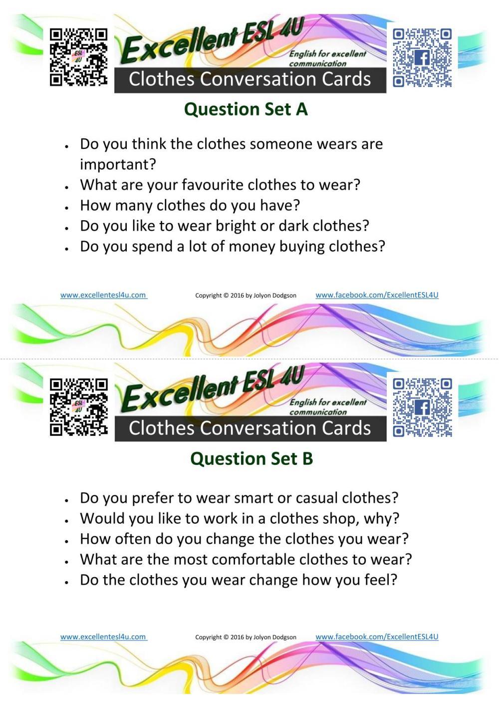 medium resolution of ESL Clothes Conversation