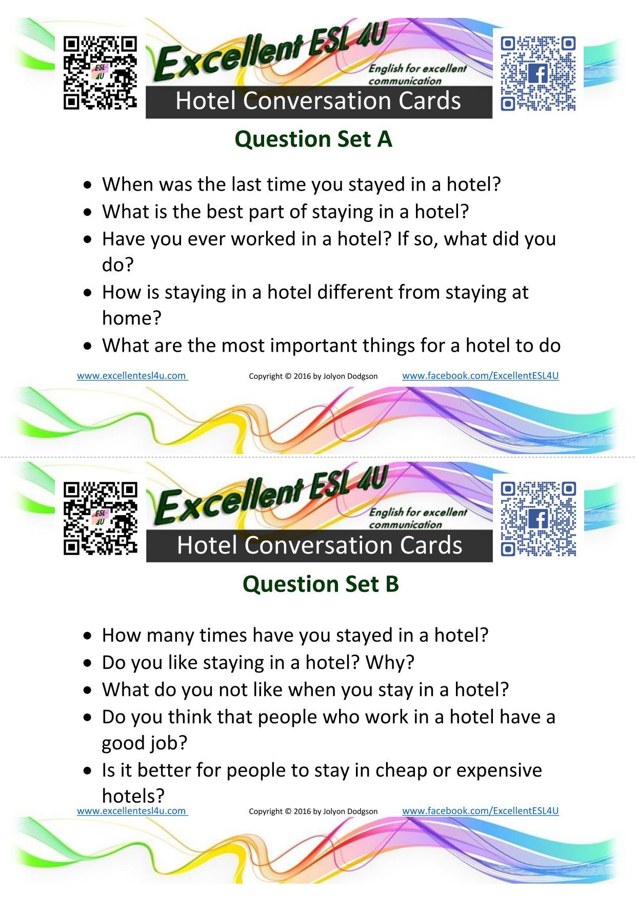 Esl Hotel Conversation