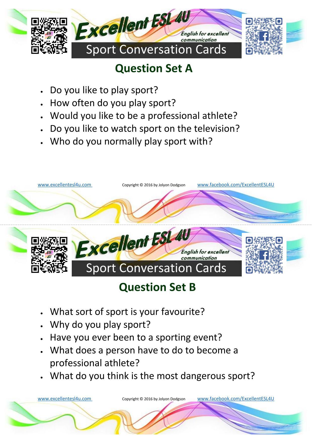 Esl Sport Conversation