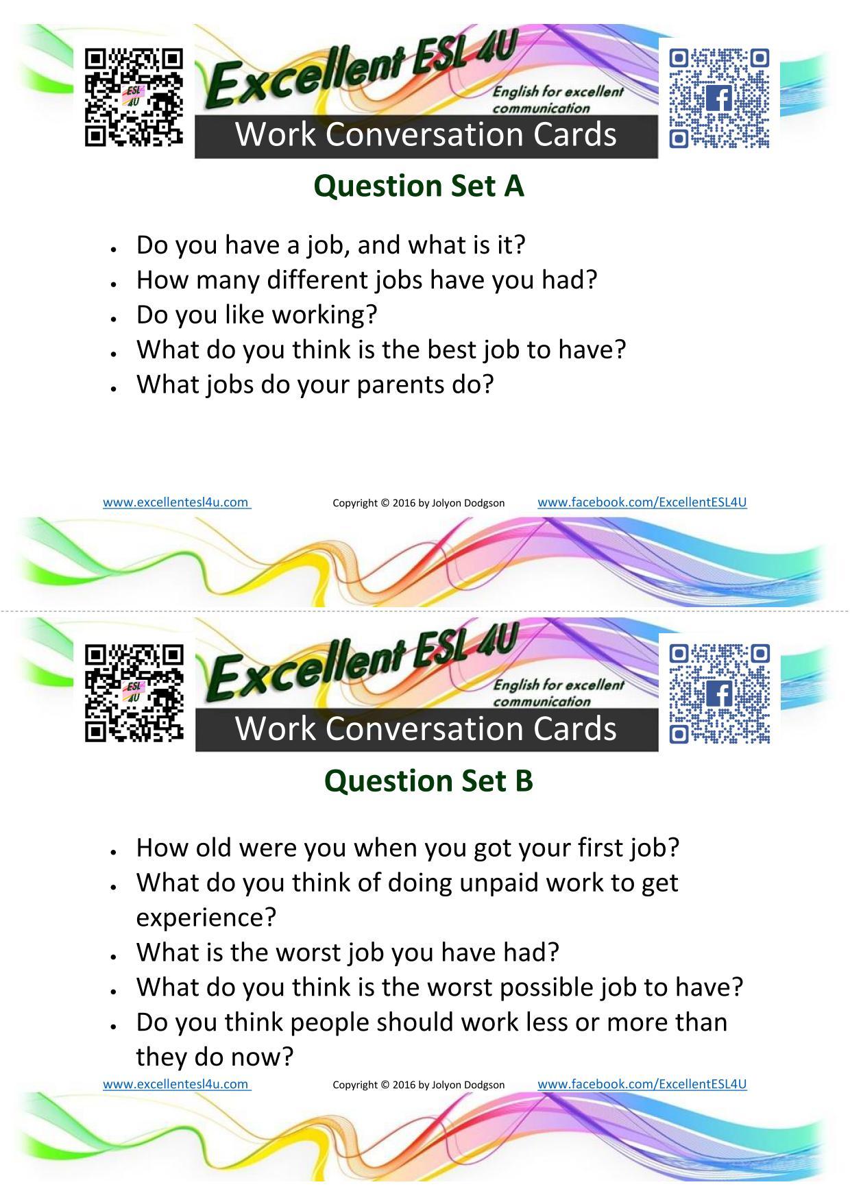 Esl Work Conversation
