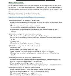 Idioms Worksheets [ 1754 x 1240 Pixel ]