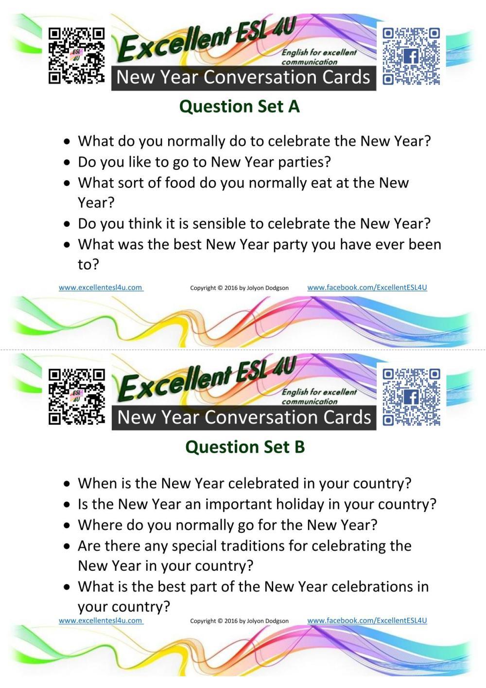 medium resolution of ESL New Year Conversation