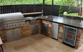patio kitchen oval tables outdoor kitchens dallas texas state fence living fort