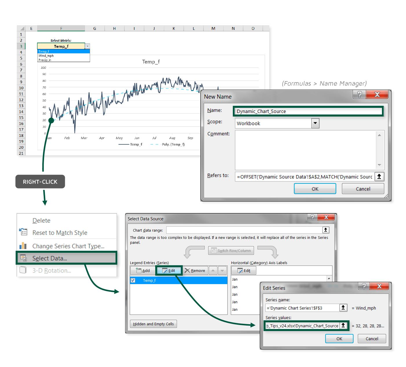 Dynamic Chart Source Ranges