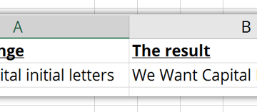 Capitalize initial letters in Excel