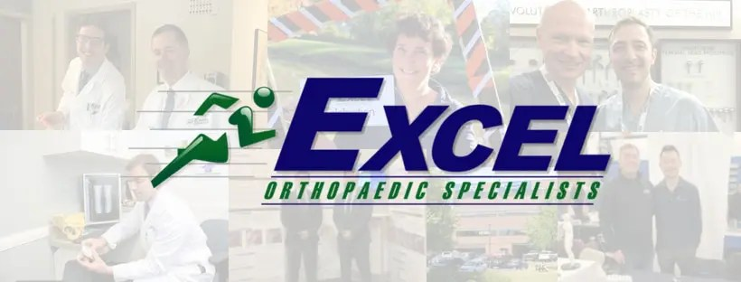 Excel Orthopaedic Specialists logo on top of a decorative banner
