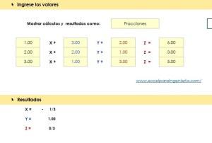 Gauss-Jordan Sistema de Ecuaciones 3 x 3