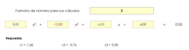 Solución de una Ecuación Cúbica - Excel Para Ingeniería