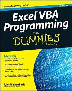xcel VBA Programming For Dummies