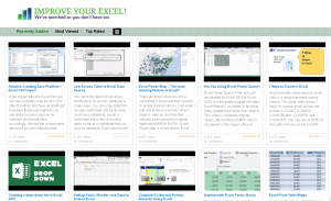 Improve your Excel