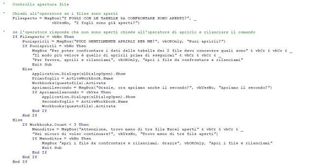 consulenza automazione foglio di controllo