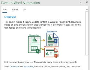 Excel to word document automation