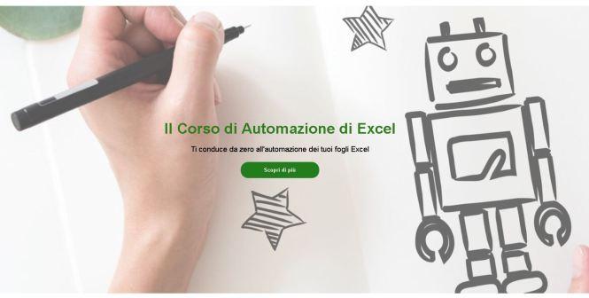 il corso di automazione di Excel professionale
