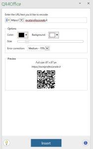 componente aggiuntivo QR4Office