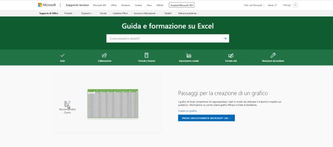 sito microsoft pagina guida e formazione