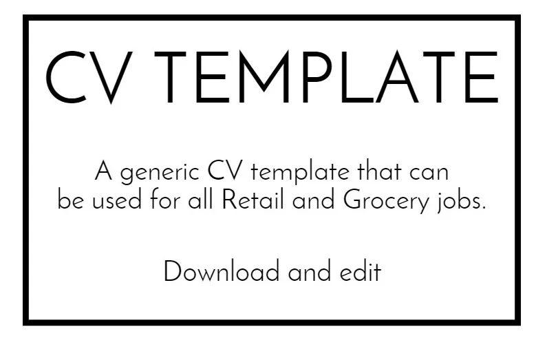 cv template ireland word