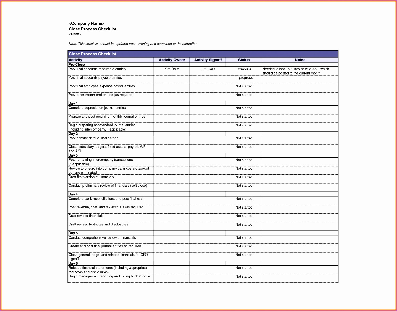12 Account Receivable Template Excel Format